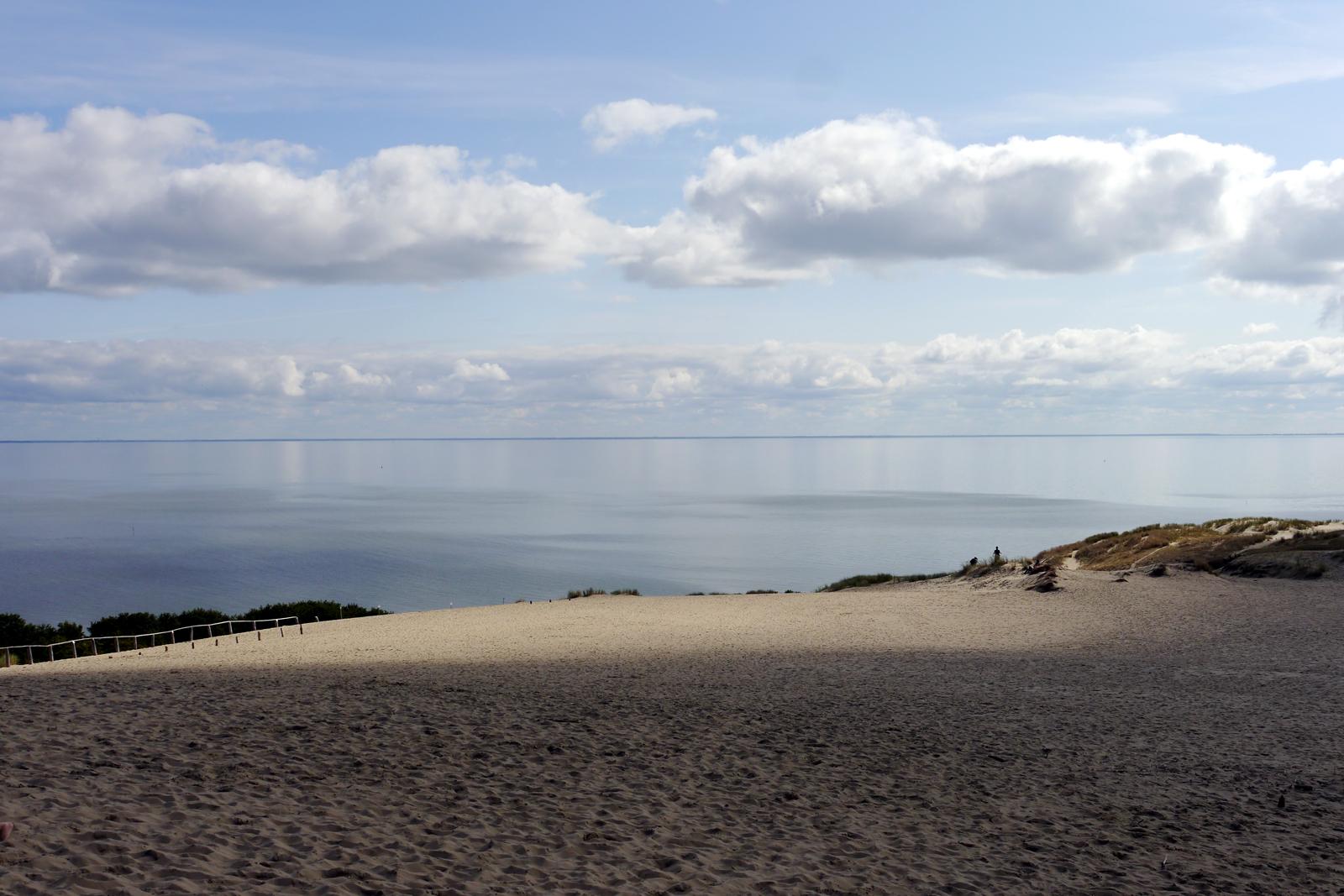 Blick von der Düne der Kurischen Nehrung aufs Meer