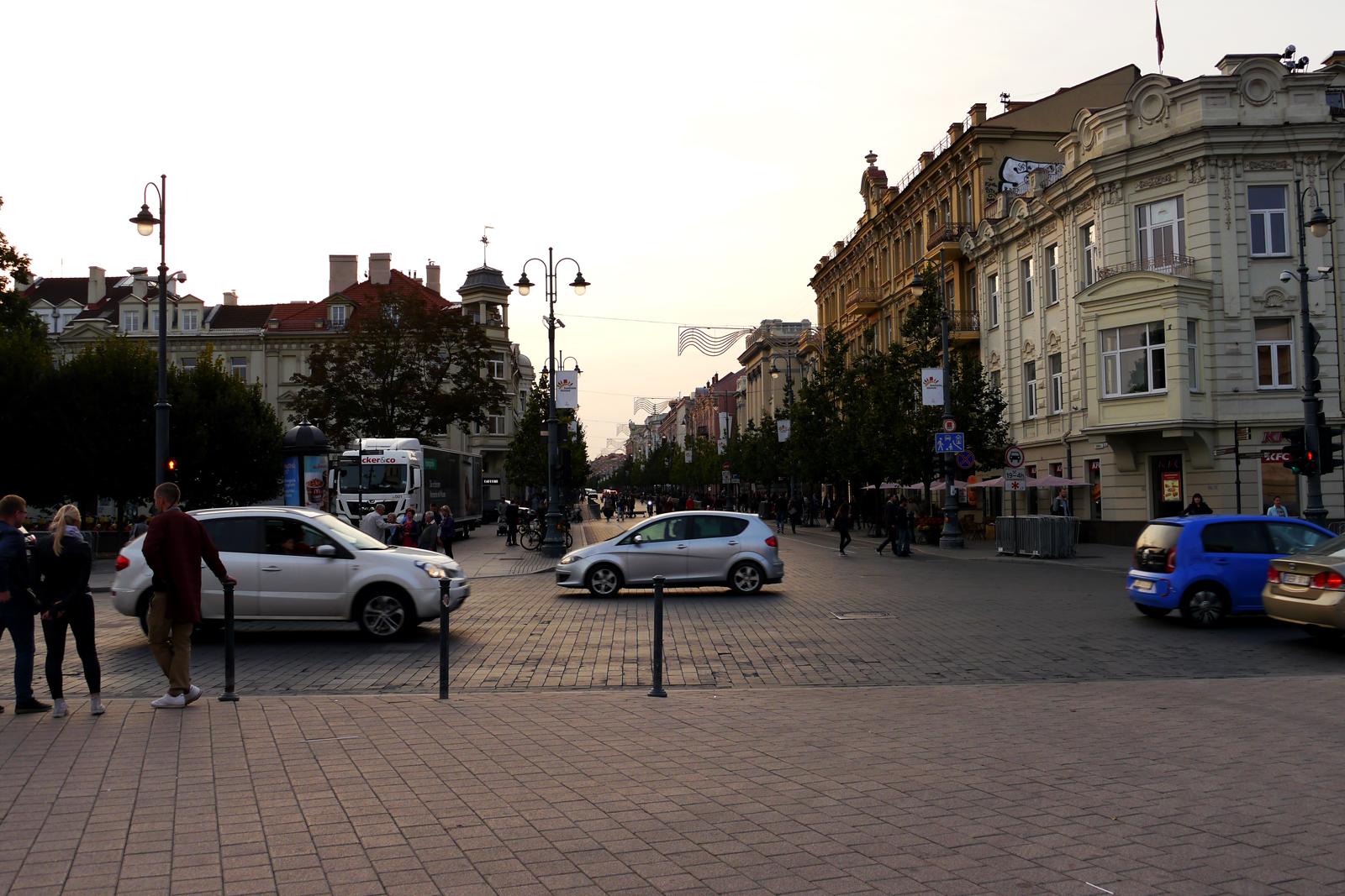Vilnius' Altstadt.