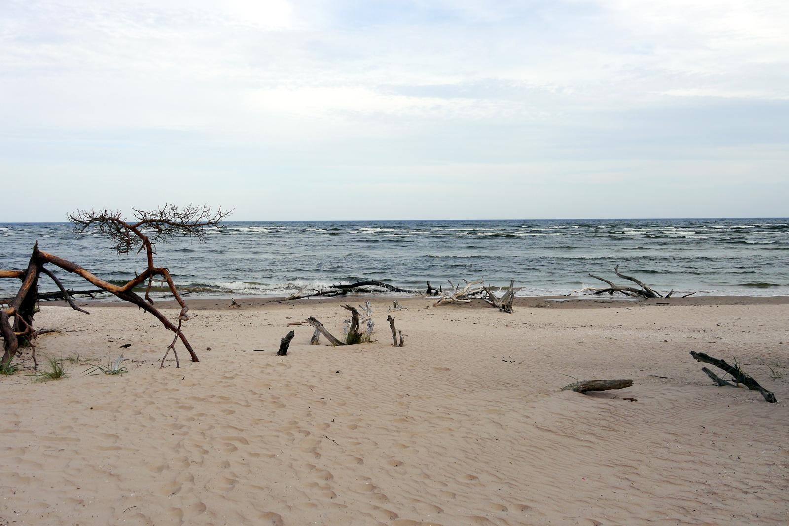 Kap Kolka Strand in Lettland.