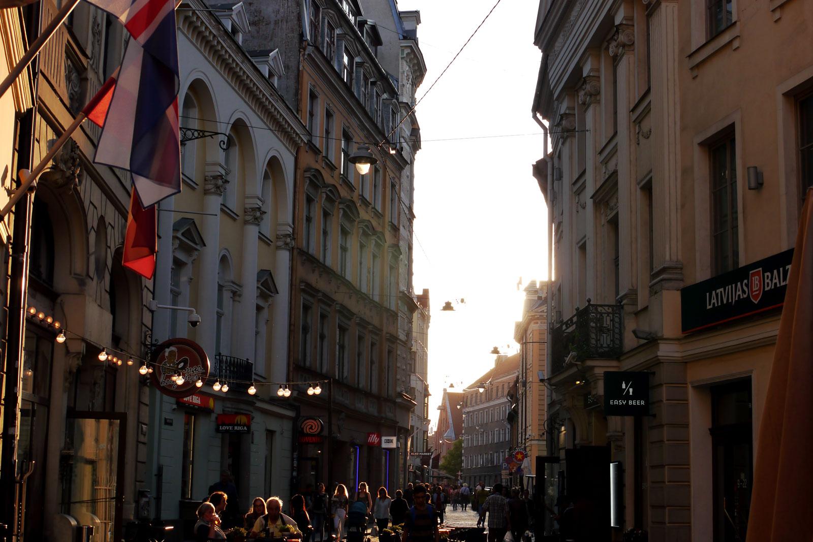Riga Altstadt. Hauptstadt von Lettland.