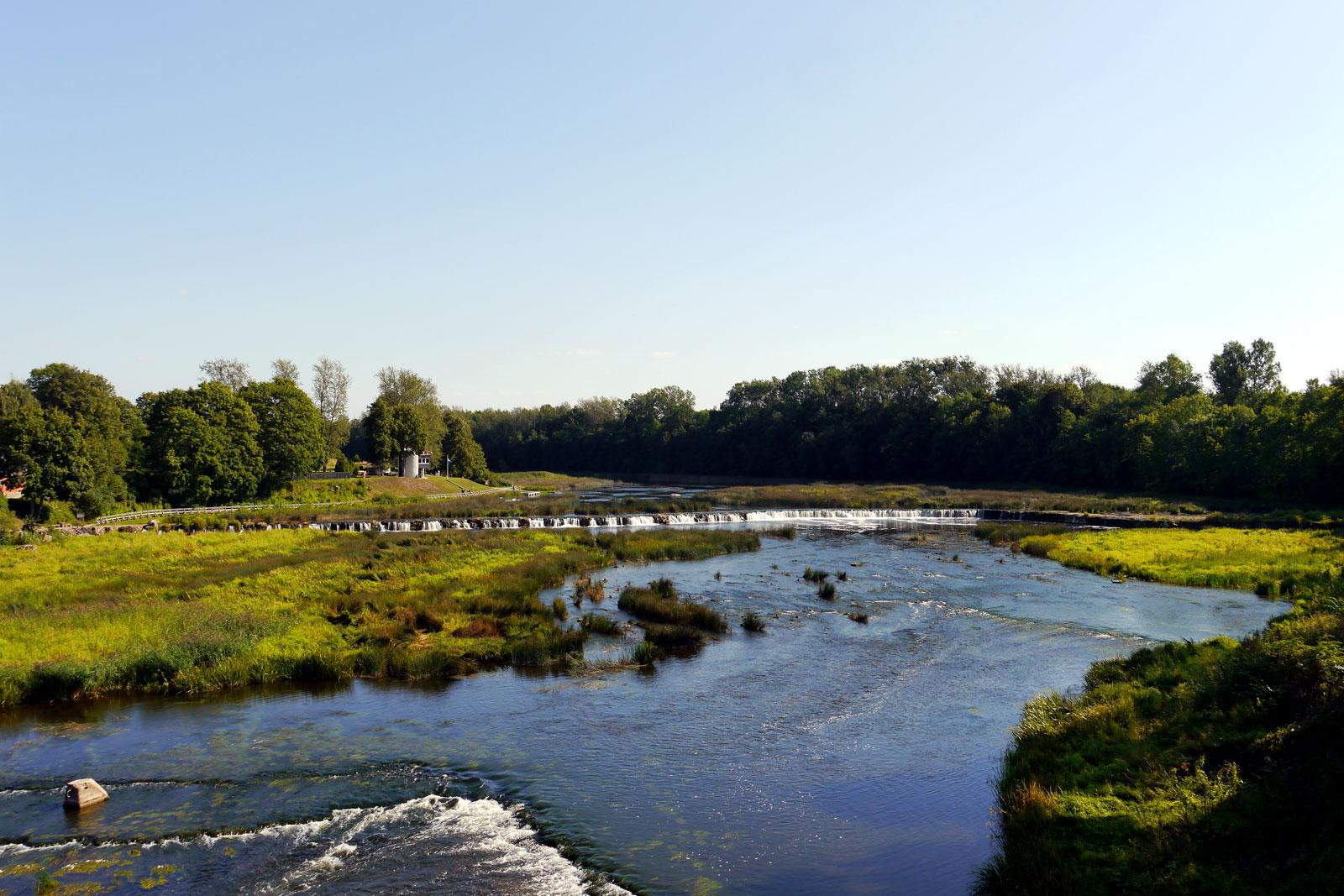 Ventas rumba Wasserfall in Kuldiga, Lettland.