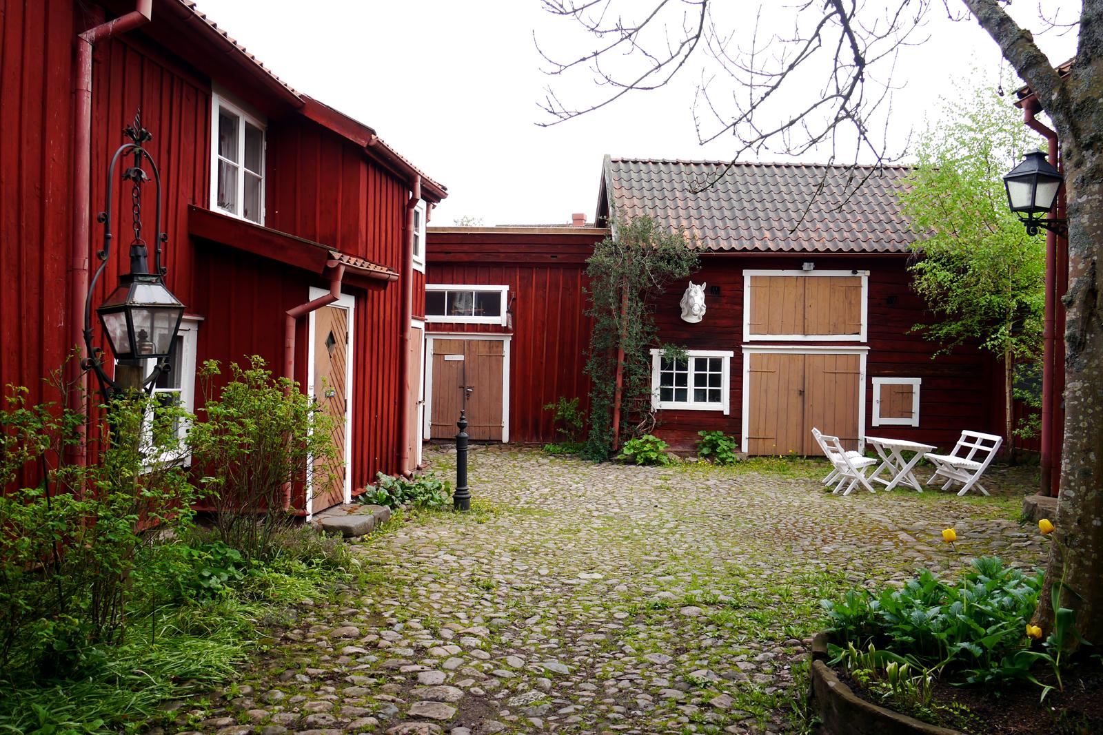 Ein Hof in der Altstadt von Eksjö.