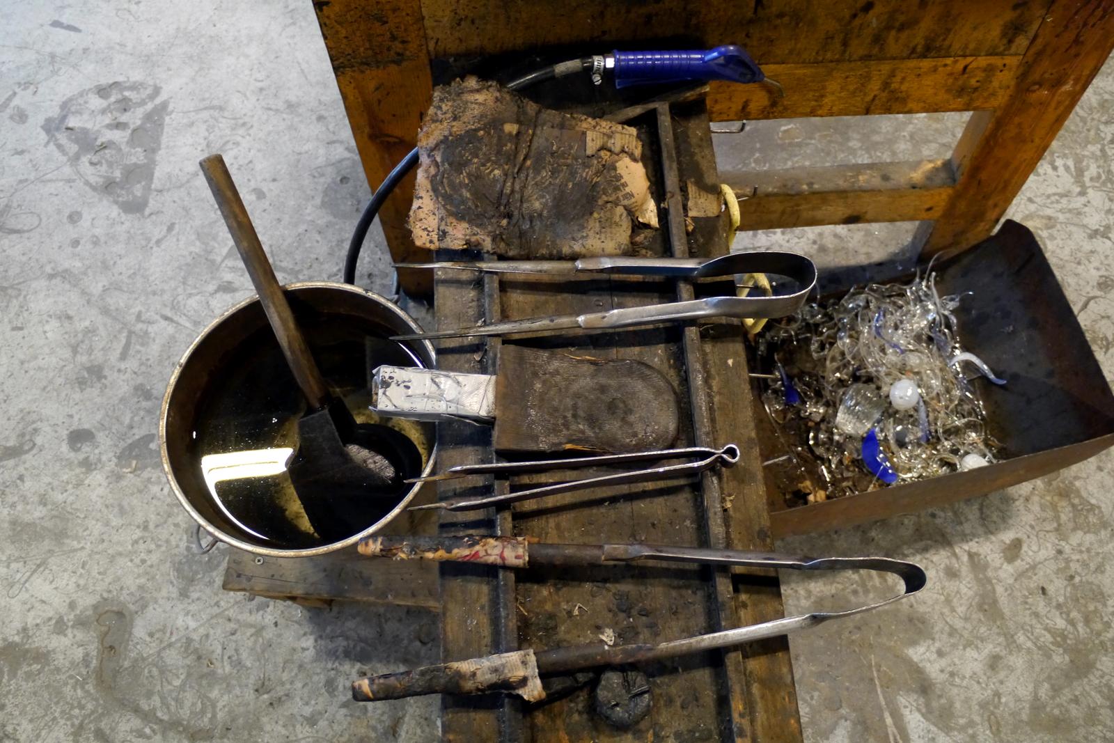 Werkzeuge im Kosta Glascenter