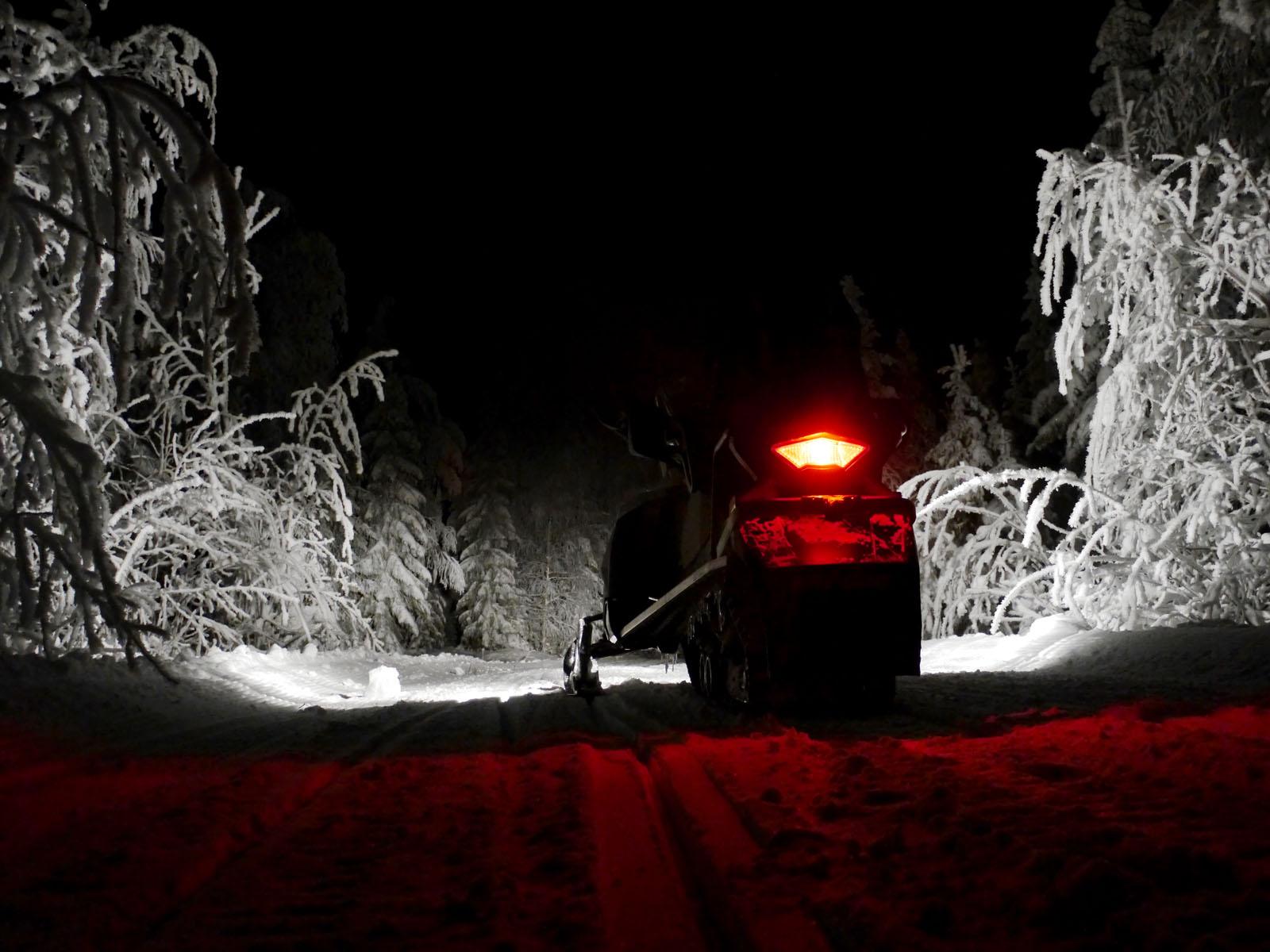 Schneemobil Tour-Vuokatti-Finnland