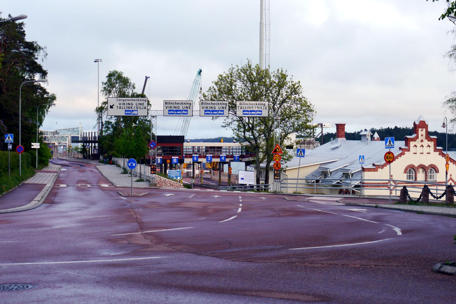 Tallink Silja-Hafen Mariehamn-Aland Inseln